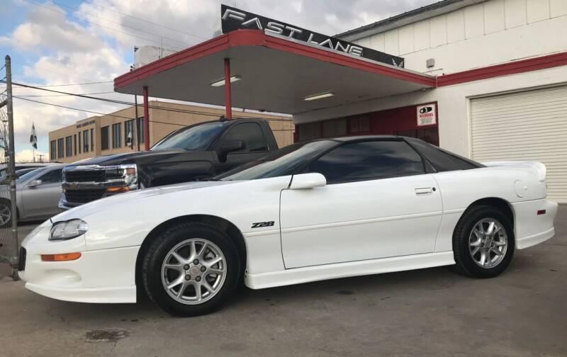 2002 Chevrolet Camaro for sale at FAST LANE AUTO SALES in San Antonio TX