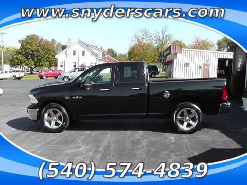 2010 Dodge Ram Pickup 1500 for sale at Snyders Auto Sales in Harrisonburg VA