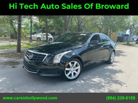 2013 Cadillac ATS for sale at Hi Tech Auto Sales Of Broward in Hollywood FL