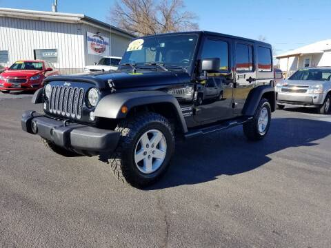 2015 Jeep Wrangler Unlimited for sale at Moores Auto Sales in Greeneville TN