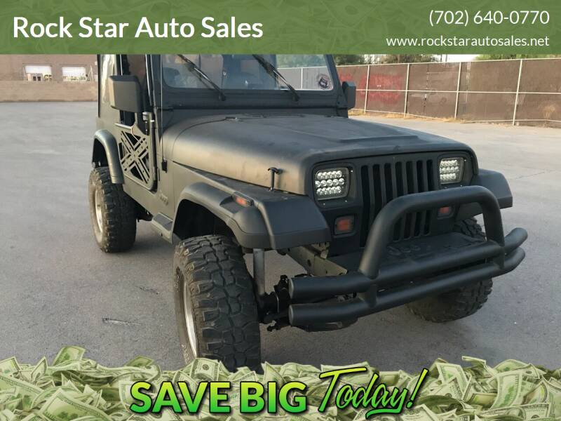 1994 Jeep Wrangler for sale at Rock Star Auto Sales in Las Vegas NV