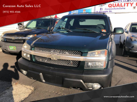 2002 Chevrolet Avalanche for sale at Corazon Auto Sales LLC in Paterson NJ