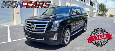 2015 Cadillac Escalade ESV for sale at IRON CARS in Hollywood FL
