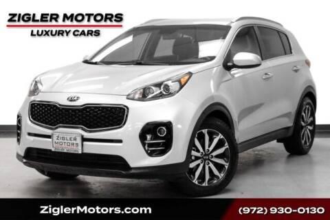2017 Kia Sportage for sale at Zigler Motors in Addison TX