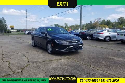 2015 Chrysler 200 for sale at Exit 1 Auto in Mobile AL