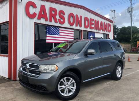 2011 Dodge Durango for sale at Cars On Demand 2 in Pasadena TX