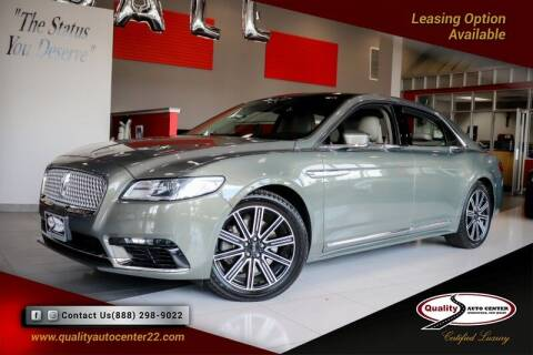 2017 Lincoln Continental for sale at Quality Auto Center of Springfield in Springfield NJ