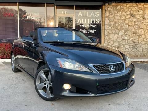 2010 Lexus IS 350C for sale at ATLAS AUTOS in Marietta GA