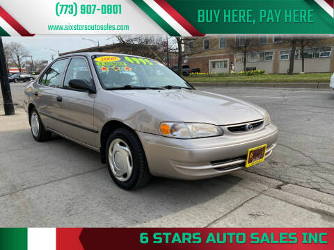 2000 Toyota Corolla for sale at 6 STARS AUTO SALES INC in Chicago IL