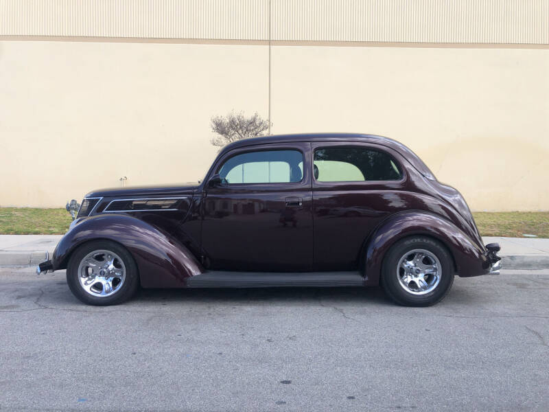 1937 Ford Hump Back Sedan for sale at HIGH-LINE MOTOR SPORTS in Brea CA