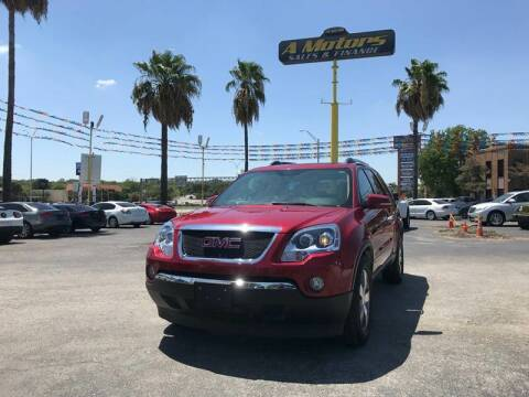 2012 GMC Acadia for sale at A MOTORS SALES AND FINANCE in San Antonio TX
