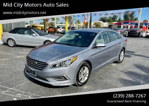 2016 Hyundai Sonata for sale at Mid City Motors Auto Sales in Fort Myers FL
