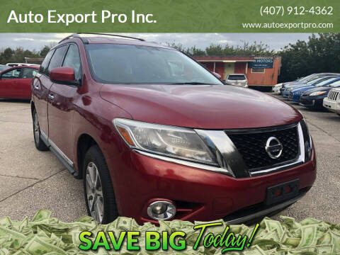 2013 Nissan Pathfinder for sale at Auto Export Pro Inc. in Orlando FL