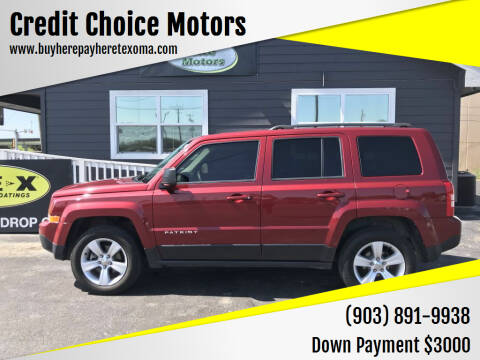 2014 Jeep Patriot for sale at Credit Choice Motors in Sherman TX