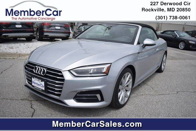 2018 Audi A5 for sale at MemberCar in Rockville MD