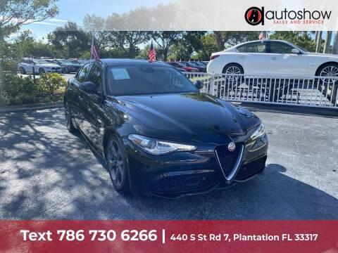 2018 Alfa Romeo Giulia for sale at AUTOSHOW SALES & SERVICE in Plantation FL