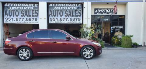 2010 Hyundai Genesis for sale at Affordable Imports Auto Sales in Murrieta CA