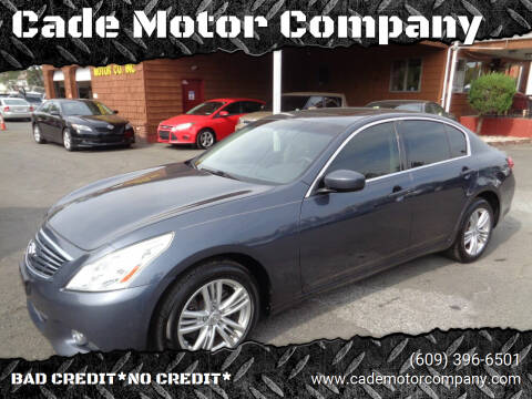 2012 Infiniti G37 Sedan for sale at Cade Motor Company in Lawrenceville NJ
