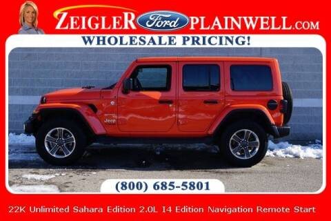 2020 Jeep Wrangler Unlimited for sale at Zeigler Ford of Plainwell- Jeff Bishop in Plainwell MI