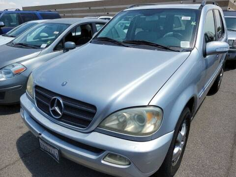 2003 Mercedes-Benz M-Class for sale at SoCal Auto Auction in Ontario CA