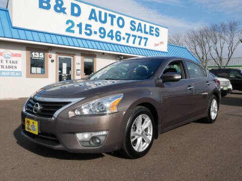 2013 Nissan Altima for sale at B & D Auto Sales Inc. in Fairless Hills PA