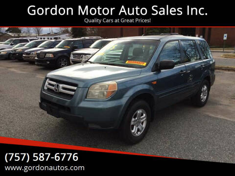 2007 Honda Pilot for sale at Gordon Motor Auto Sales Inc. in Norfolk VA