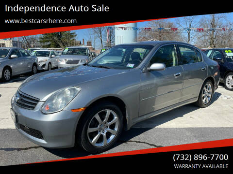 2006 Infiniti G35 for sale at Independence Auto Sale in Bordentown NJ