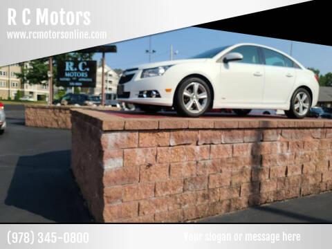 2014 Chevrolet Cruze for sale at R C Motors in Lunenburg MA