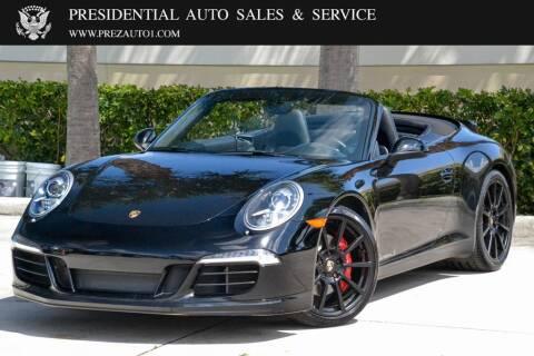 2013 Porsche 911 for sale at Presidential Auto  Sales & Service in Delray Beach FL
