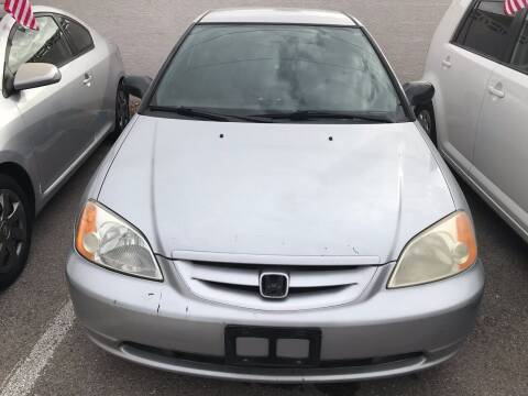 2002 Honda Civic for sale at CASH OR PAYMENTS AUTO SALES in Las Vegas NV