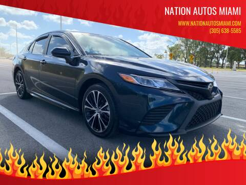 2018 Toyota Camry for sale at Nation Autos Miami in Hialeah FL
