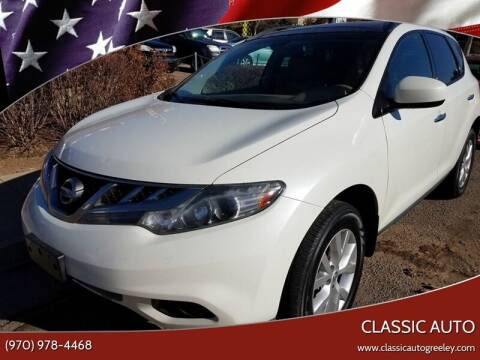 2012 Nissan Murano for sale at Classic Auto in Greeley CO
