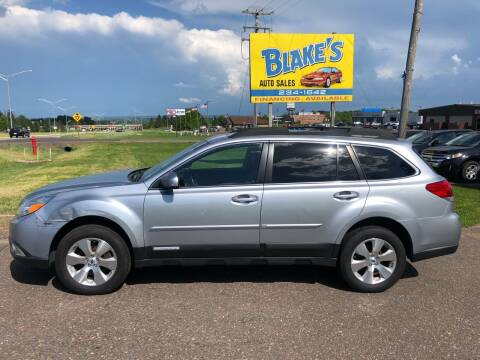 2012 Subaru Outback for sale at Blake's Auto Sales in Rice Lake WI