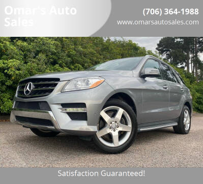 2014 Mercedes-Benz M-Class for sale at Omar's Auto Sales in Martinez GA