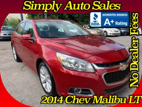 2014 Chevrolet Malibu for sale at Simply Auto Sales in Palm Beach Gardens FL