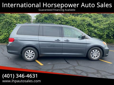 2010 Honda Odyssey for sale at International Horsepower Auto Sales in Warwick RI