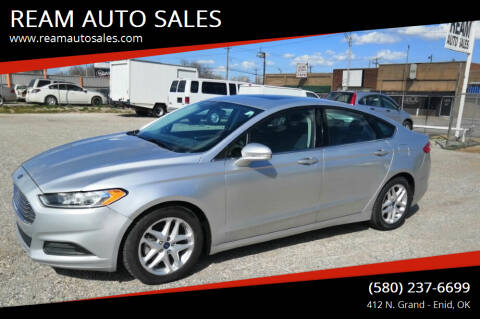 2015 Ford Fusion for sale at REAM AUTO SALES in Enid OK