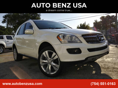 2007 Mercedes-Benz M-Class for sale at AUTO BENZ USA in Fort Lauderdale FL