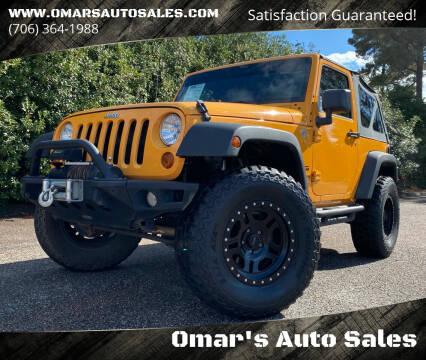 2013 Jeep Wrangler for sale at Omar's Auto Sales in Martinez GA