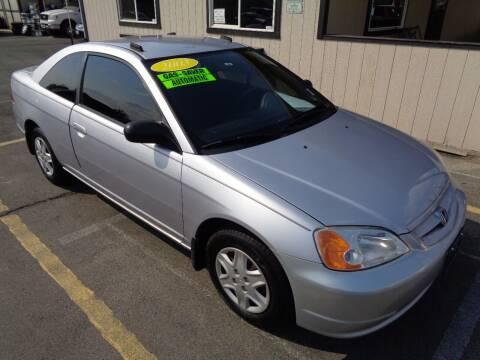 2003 Honda Civic for sale at BBL Auto Sales in Yakima WA