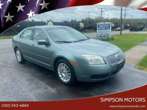 2006 Mercury Milan for sale at SIMPSON MOTORS in Youngstown OH