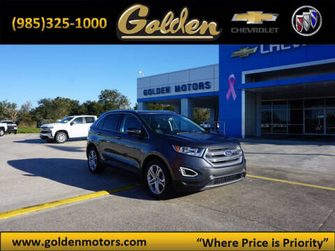 2017 Ford Edge for sale at GOLDEN MOTORS in Cut Off LA