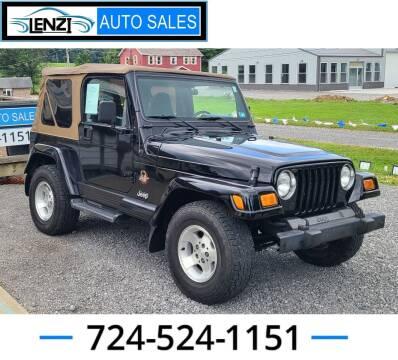 2002 Jeep Wrangler for sale at LENZI AUTO SALES in Sarver PA