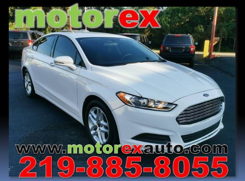2016 Ford Fusion for sale at Motorex Auto Sales in Schererville IN