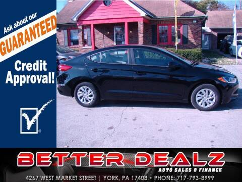 2018 Hyundai Elantra for sale at Better Dealz Auto Sales & Finance in York PA