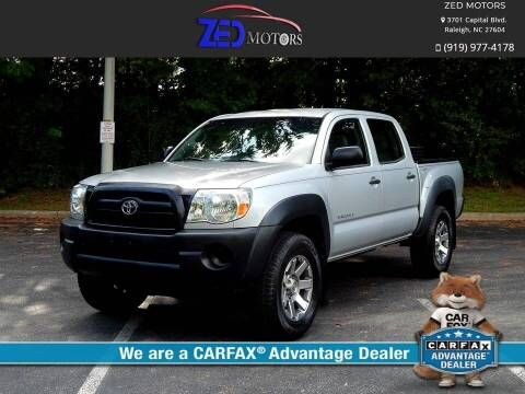 2008 Toyota Tacoma for sale at Zed Motors in Raleigh NC