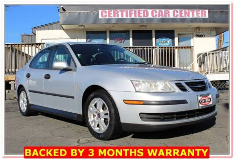 2005 Saab 9-3 for sale at CERTIFIED CAR CENTER in Fairfax VA