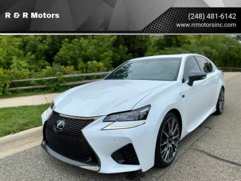 2017 Lexus GS F for sale at R & R Motors in Waterford MI
