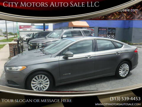 2013 Ford Fusion Hybrid for sale at City Motors Auto Sale LLC in Redford MI