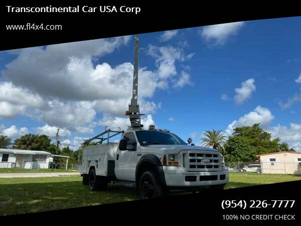 2007 Ford F-450 Super Duty for sale at Transcontinental Car USA Corp in Fort Lauderdale FL